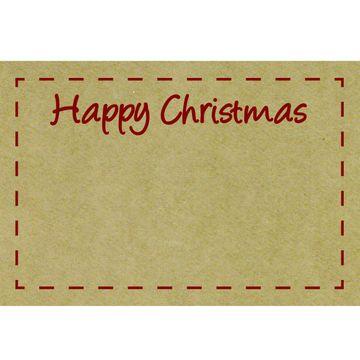 Happy Christmas Kraft Cards x 50