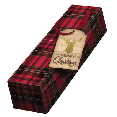 Tartan Stag Bottle Box