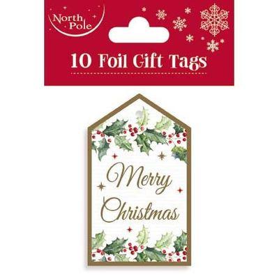 Merry Christmas Foil tags