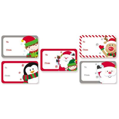 Sticker Christmas Gift Tags