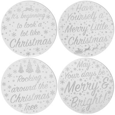 Christmas Candle Plates