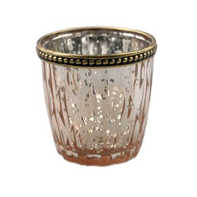 Rose Gold Harlequin Tea light holder