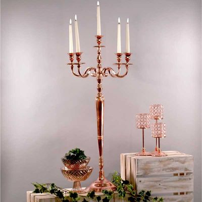 Rose Gold Windsor Candelabra 100cm