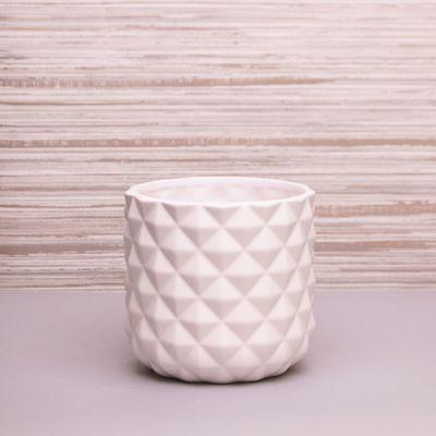 White Pineapple Ceramic Pot 13.3cm