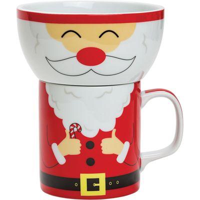 Santa Claus Cup and Bowl Set