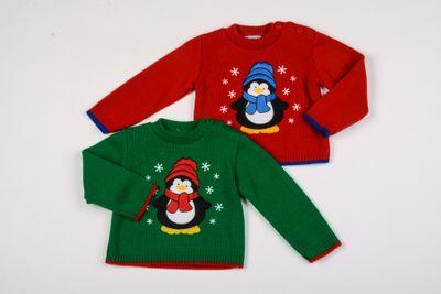 2pk Penguin xmas jumpers