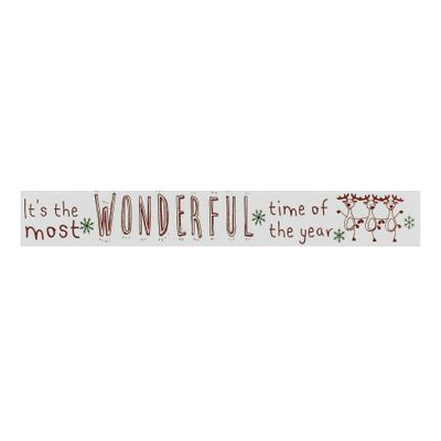 Wonderful time of the year plaque