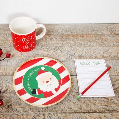 Santa mug, plate and notepad set