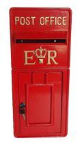 Red ER Metal Post Box (58.5cmx25.5cm)