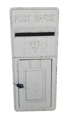Antique Ivory ER Metal Post Box (58.5cmx25.5cm)
