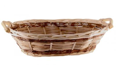 Oval Unlined Two Tone Tray Basket (49cm)