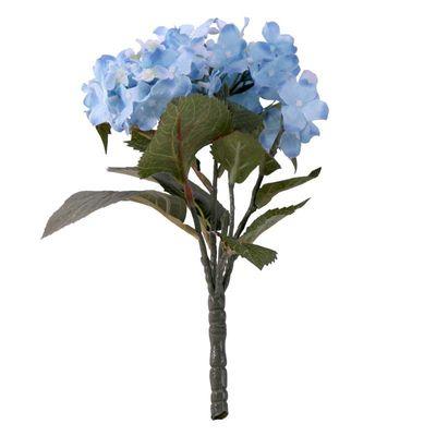 Blue hydrangea bush