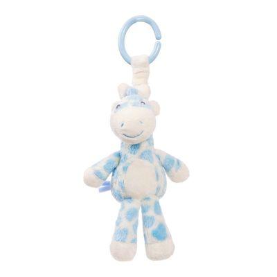 Gigi Giraffe Blue Pram Toy 7.5 Inch