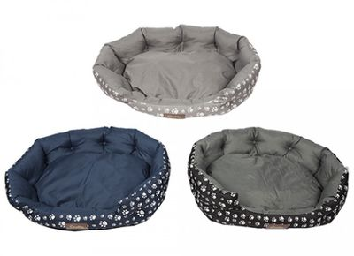 Crufts Large Bolster Bed 75 X 65Cm With Hang Tag 3Asstd