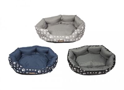 Crufts Small Bolster Bed 55 X 45Cm With Hang Tag 3Asstd