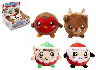 Squishimi Christmas Plush Balls (4 Assrtd)