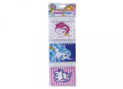 3 Unicorn Design Lined Notebooks