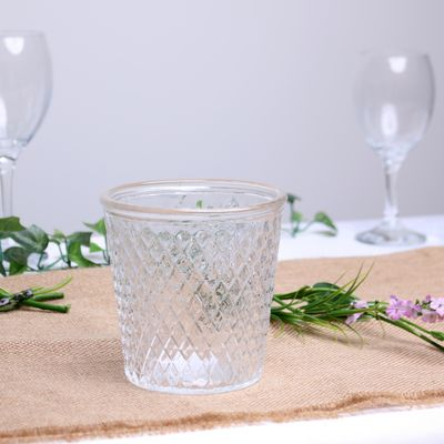 Clear Geometric Votive (12cm)