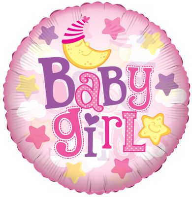 Baby Girl Moon Balloon