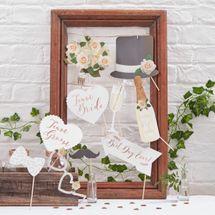 Team Bride Groom Photo Booth Props