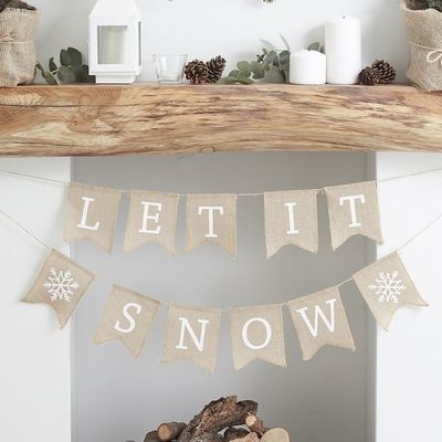 let it snow bunting