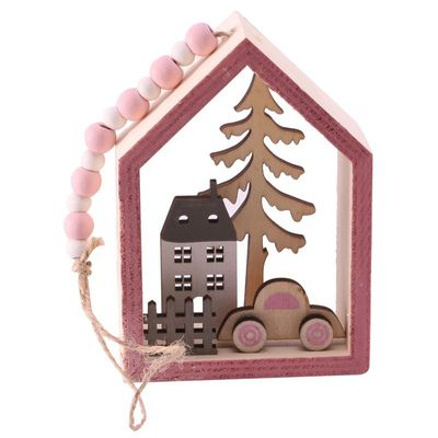 hanging wooden xmas decoration