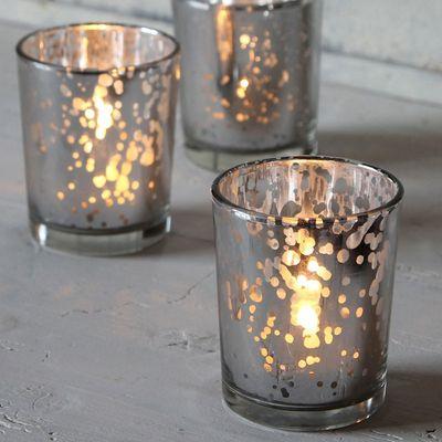 Silver Speckle Votive (6.5cm)