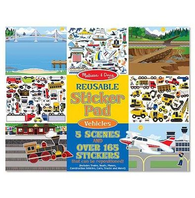 Reusable Vehicles Sticker Book