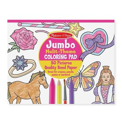 Jumbo Pink Colouring Book
