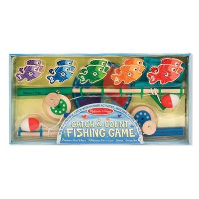 Catch and count magnetic fishing game