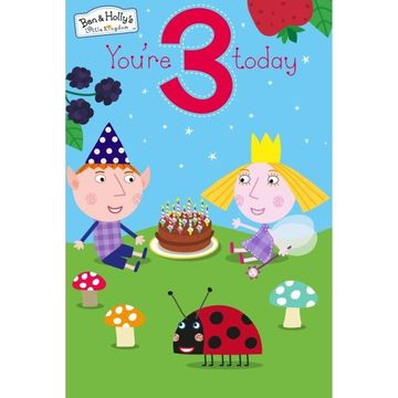 Birthday Card: Ben & Holly Age 3 Favourite By Gemma International