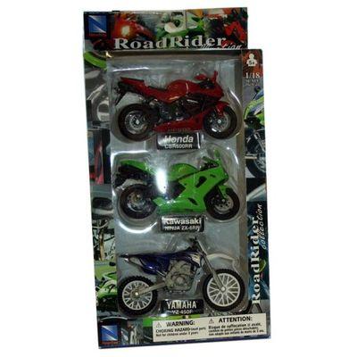 3 Pk D c 1:18 Motorbike 2asst  by AtoZ Toys