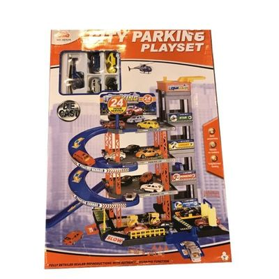 4 Storey Garage With D c Cars  by AtoZ Toys
