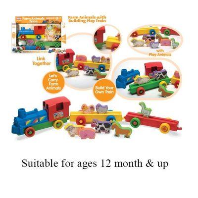 Farm Train Set (55210)  by AtoZ Toys