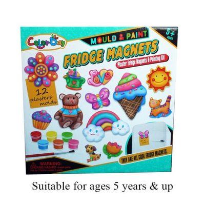 Mould & Paint 12pcs Fridge Magnets  by AtoZ Toys