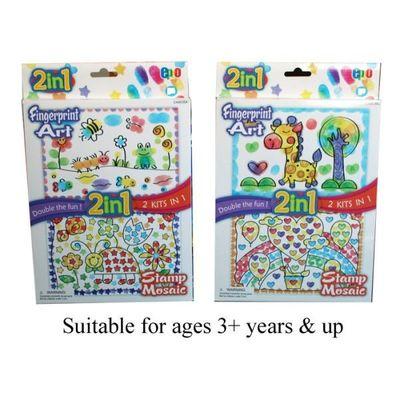 2 In 1 Fingerprint   Stamp Set (2asst)  by AtoZ Toys