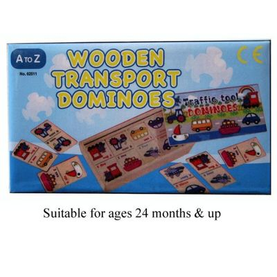 Wooden Transport Tools Dominoes  by AtoZ Toys