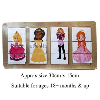 Wooden Princess Dress Up Puzzle  by AtoZ Toys