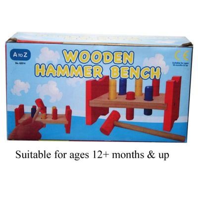 Wooden Hammer Bench  by AtoZ Toys