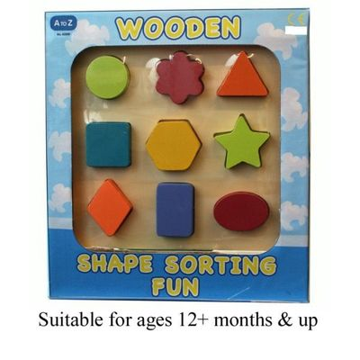 Wooden Shape Sorter  by AtoZ Toys
