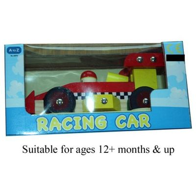 Wooden Racing Car 2 Asstd  by AtoZ Toys