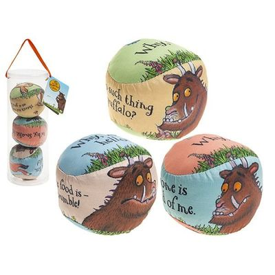 3 Inch Gruffalo Printed Play Balls 3 Piee  Set In Pvc Tube