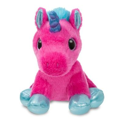 Sparkle Tales Starlight Hot Pink Unicorn 7 Inch Soft Toy By Aurora