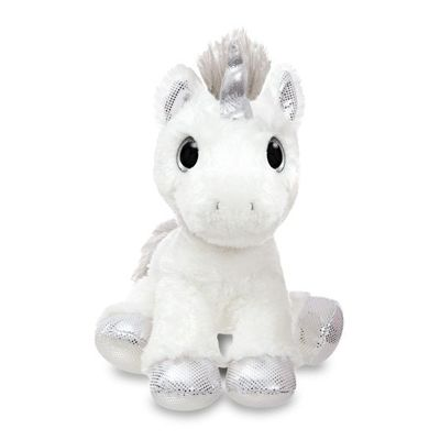 Sparkle Tales Twilight Unicorn 12 Inch  Silver Soft Toy By Aurora