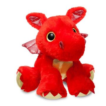 Sparkle Tales Sizzle Red Dragon 12 Inch Soft Toy By Aurora
