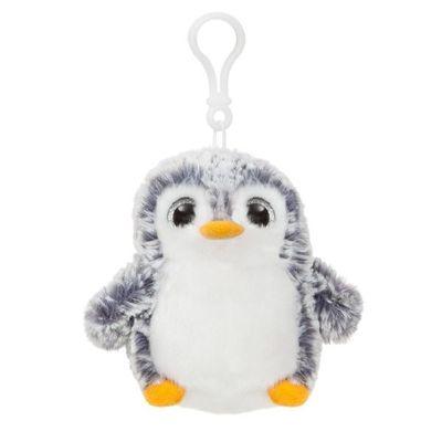 Pom Pom Backpack Clip Grey Soft Toy By Aurora