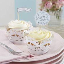 Vintage White Lace Cupcake Wrap
