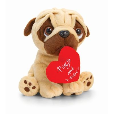 14cm Pugsley Valentines 4 Assorted By Keel Toys