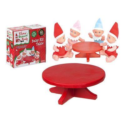 4.5 Inchd Red Polystone Mini Elf   Baby Table In Printed Box