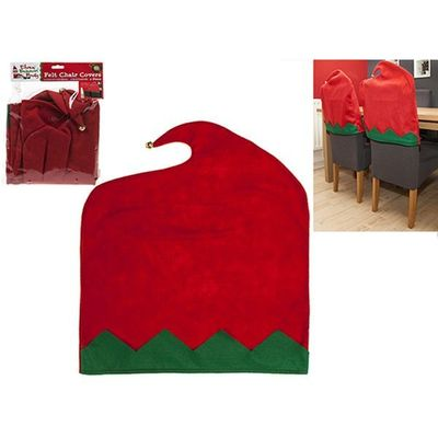 2 Pc Elf Felt Chair Back Cover In Pp Bag With Pvc Ctd Header Crd